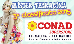 Mister Terracina 3° classificato 2015
